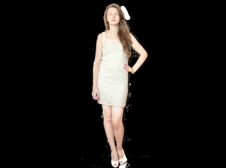 Lace, Cotton Dress | Romantic