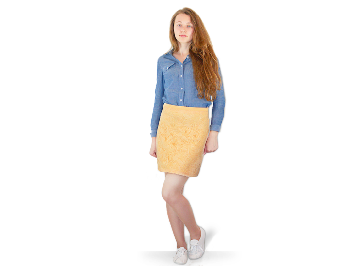 Lace-Cotton Skirt | For everyday