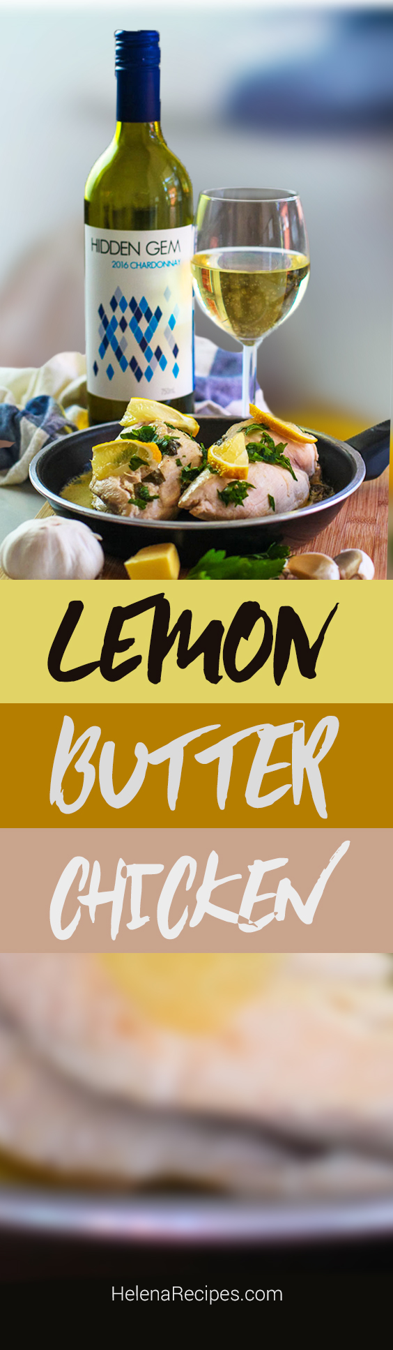 Lemon Butter Chicken Recipe Image for HelenaRecipes.com.